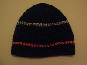 Gorro de lana, tejido al crochet