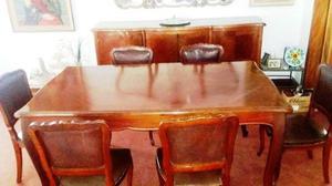 Juego de comedor mesa 6 sillas aparador espejo tipo mariposa