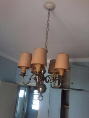 Lampara de techo en Bronce 5 luces