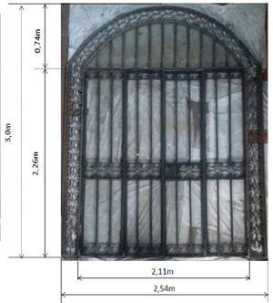 Portón antiguo hierro 4 hojas.