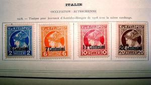 Sellos postales de Italia ocupación austríaca