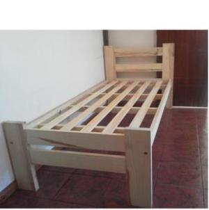 cama 1 plaza de pino