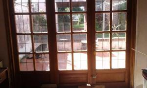 Vendo tres hojas de puerta balcón