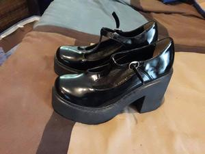 Zapatos plataforma Guillermina CUERO Nro 37