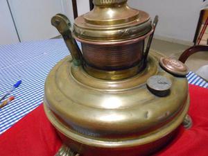 lampara de mesa antigua germany bronce