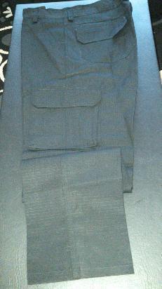 pantalon combate rip-stop anti-desgarro azu/negro