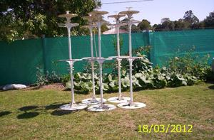 5 Torres de iluminacion para jardin.