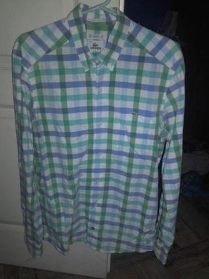 Camisa rayada lacoste talle 40