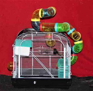Hamstera 2 Pisos Fren Acrilico Hamster +tubos +envío