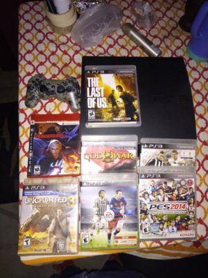 Playstation 3 slim + 7 juegos