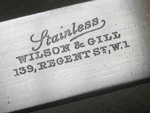 Antiguo Cuchillo Inglés Wilson & Gill Acero Inoxidable