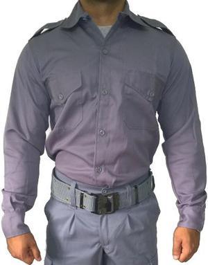 Camisa Manga Larga Gris Servicio Penitenciario Talles