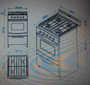 Cocina Escorial Candor 4 hornallas disponible hasta el
