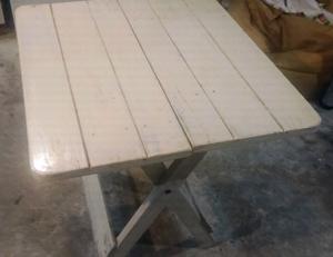 Mesa matera plegable de pino
