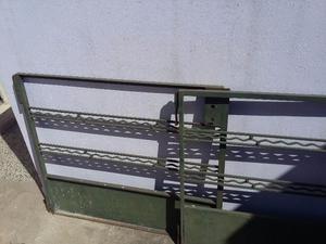 Portón rejas de hierro macizo