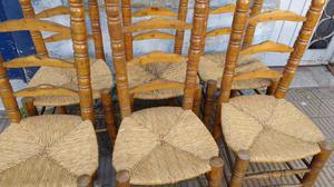 Antiguo juego de sillas estilo campo