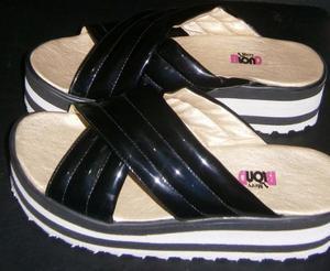 Sandalias Cruzadas Con Plataforma Nº40