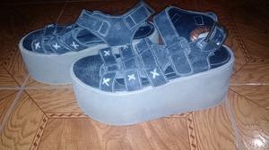 Sandalias con plataforma talle