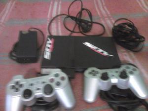 ps2 play 2 con 2 joystick 2 memorias de 8 y todos sus cables