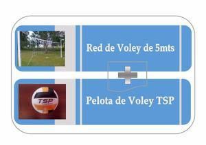 Red De Voley 5 Mts + Pelota De Voley Tsp
