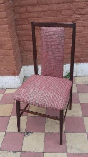 Vendo juego de 6 sillas de cedro impecables