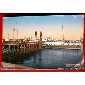 antigua postal puerto de salto postal color