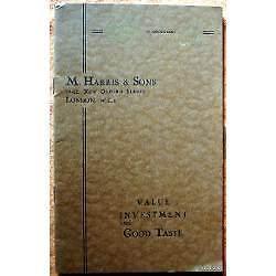 antiguo catalogo ingles m. harris & sons 28 paginas fotos en