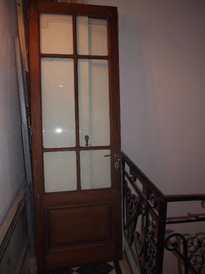 Puerta antigua de cedro vidrio repartido posot class - Puertas madera y vidrio ...