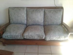 vendo juego de sillones de algarrobo