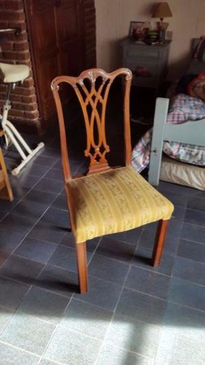 vendo o permuto 5 sillas estilo chippendale $  c/u