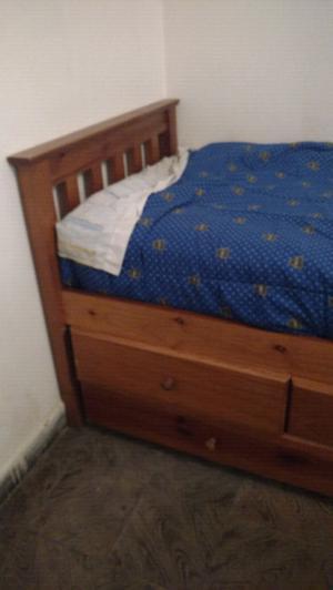 Cama con cajonera y otra cama aux. + Colchón piero