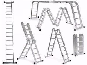 Escalera De Aluminio Articulada Multifun. 4 X 4 Esc 16 Esc
