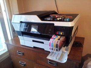 Impresora Sublimacion A3 Brother / Rojo Y Amarillo Tapado.