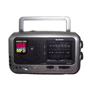 Ken Brown Dx410 Radio Am/fm Usb/sd C/linterna Graba Radio!