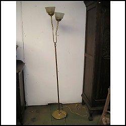 LAMPARA DE PIE EN BRONCE 2 LUCES, SIN TULIPA