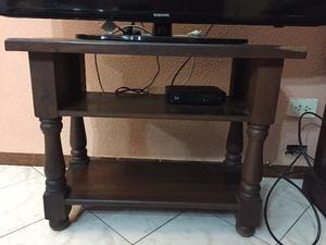 Mesa de tv hecha en algarrobo de primera posot class for Mesa algarrobo precio
