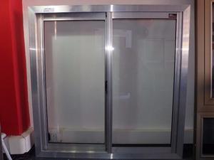 ventana de aluminio natural x con vidrio posot class