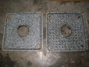 parrigas cuadrada enlozada y medidor de gas de aluminio