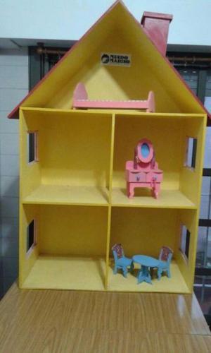 Casita de muñecas Barbie con muebles