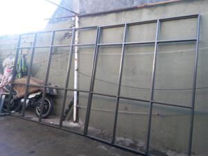 Cerramiento o mampara fija completo con vidrio