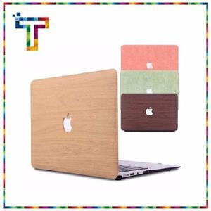 Funda Macbook Air  Simil Madera Lino Apple Mac
