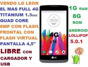 LG LEON FULL CAMARA 8M RED 4G LIBRE EL MAS FULL,PANTALLA 4,5