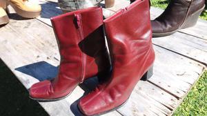 Botas bordo de cuero N 40