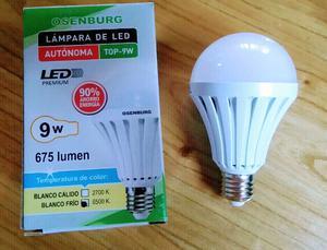 Lamapa led 9w autónoma. Funciona como luz Emergencia.