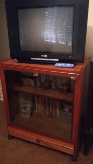 """Mesa tv + tv 21"""" pantalla plana"""