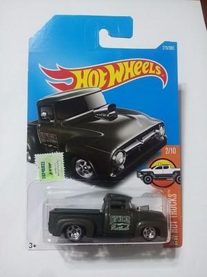 hot wheels  custom 56 ford truck verde