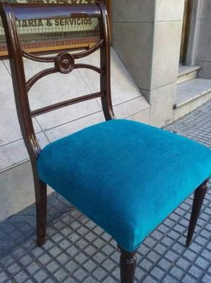 juego de 4 sillas INGLESAS con tapizado nuevo