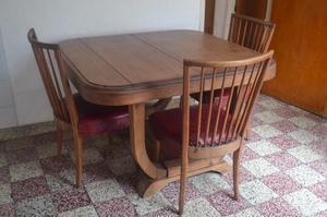 juego de sillas + mesa antigua