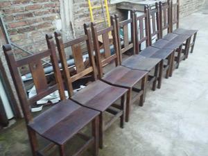 8 sillas de algarrobo
