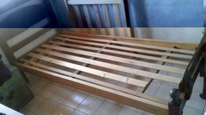 Cama de algarrobo 1 plaza más colchón